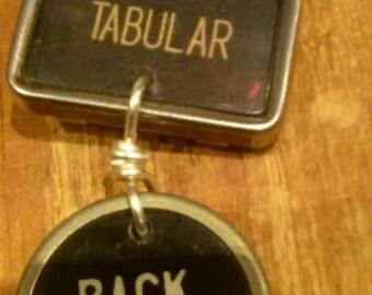 Tabular and Backspacer typewriter key pendant