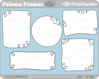 Paloma Frames - Personal and Commercial Use - digital clipart clip art label modern sweet pretty