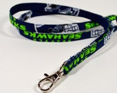 Seattle Seahawks fabric lanyard with lobster clasp for id, badge, keys, whistle