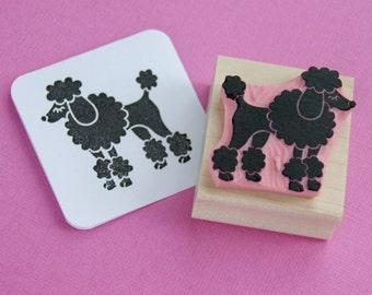 Dog Rubber Stamp - Fancy Poodle Hand Carved Rubber Stamp - Gift for Dog Lover - Animal Lover Gift - Poodle Gift - Dog Gift