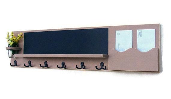 Chalkboard Mail Organizer - Chalkboard  - Coat Rack - Mail Holder - Letter Holder - Jar Vase - Wood
