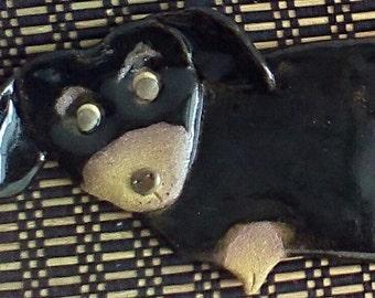 Dachshund Black and Tan Dog Spoon Rest