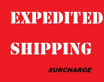 EXPEDITED Shipping Service  upgrade ( for custom pet pilow - ornament)