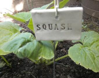 Handmade Ceramic Squash Plant Marker