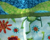 Green Frog  Pillow Case Set - Standard Queen Cotton - Festive Colorful Covers