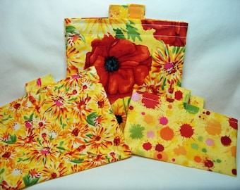 ON SALE! PK Happy Baggy Set - Pandora - Eco-friendly Lunch Bags - Washable Baggy Set - Ready To Ship