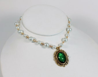 Princess Necklace Childs Girls Medieval Jewelry  Renaissance Tudor Necklace Dress Up