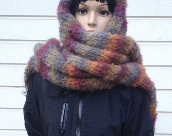 Hand Knit scarf, Womens Winter Accessories, long merino scarf