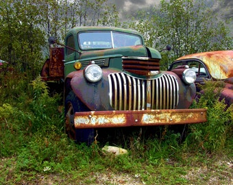 COLORFUL, RUSTED  JALOPIES