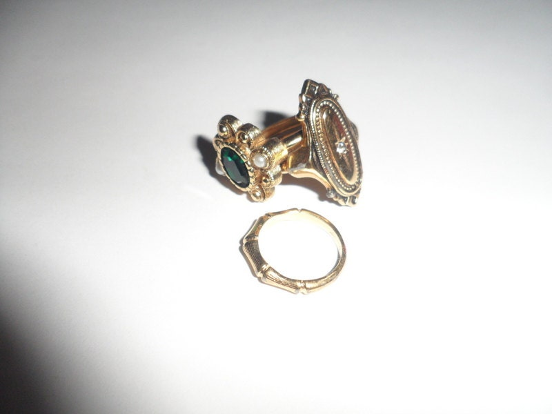 lot of 3 avon rings avon jewelry gold tone with by