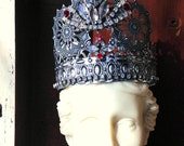 Crown Tiara For Doll Bust Statue Vintage Rhinestones
