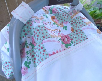 Shabby Chic Floral Baby Girl Car Seat Cover