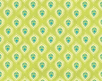 Small Green Geometric Fabric Tree of Life by Sue Zipkin Collection Y1665 19 END of BOLT