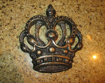 One Crown Wall Plaque Free Usa Shipping Old World Tuscan Medieval
