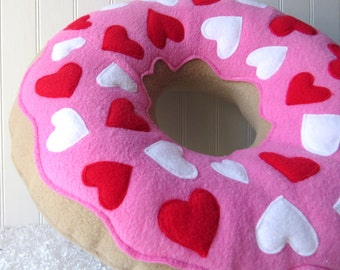 Valentine Doughnut Pillow