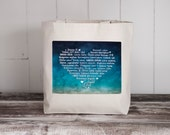 """LOVE Languages - Watercolor Collection: Seaside - Tote Bag - Natural Canvas Bag - School Bag - More info in """"Item Details"""""""