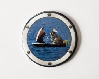 """Set Sail, Cottontail - 2.25"""" Magnet"""