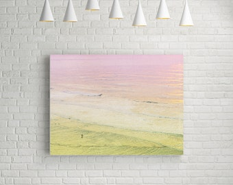 Canvas Art // California Dreaming Surf Canvas Print // Surfer Art Print // Seaside Art // Canvas Art //San Francisco Sunset
