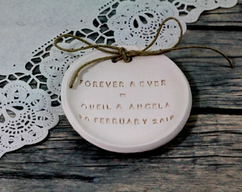Custom wedding ring holder Personalized wedding ring dish  wedding Ring pillow Ring bearer ,Ring bearer Forever and ever ring dish