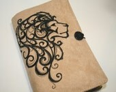 Lion embroidered Book Cover