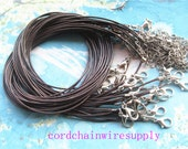TINY FINISH-high quality 20pcs 1mm 16-18 inch adjustable coffee korea wax string snake necklace cords