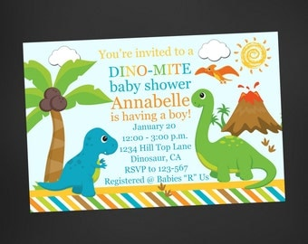 Perfect Dinosaur Baby Shower Invitations Etsy, Baby Shower Invitations