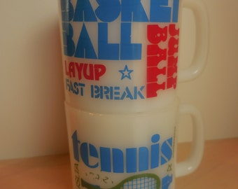 Basketball and Tennis SPORTS Mugs