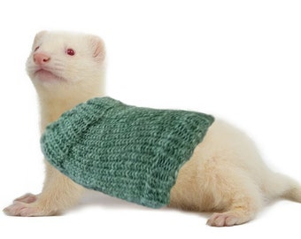 Pet Ferret Sweater Cozy Unique Extra Stretchy One-Size-Fits-Most Clothes Accessories