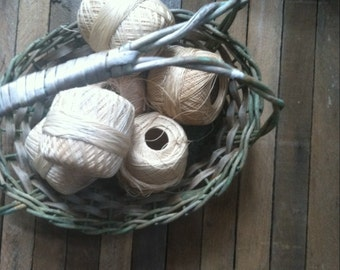 Vintage  flower basket small / Easter Basket/ home decor/ primitive/ rustic
