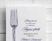 Print Your Own Dinner Party Invitation Birthday Party Invitation
