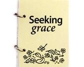 Christian Prayer Journal, Religious Journal with God, Prayer Log, Prayer Diary - Seeking Grace in beige