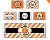 Basketball Party - Personalized DIY printable Hershey bar labels