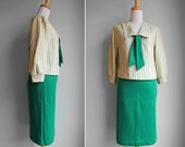 Vintage 1940s Kelly Green Sailor Set- Matching Nautical Set- Pin Up- Size Small or Extra Small S XS