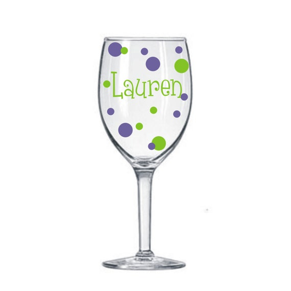 Items similar to 10 name decals for diy wine glass kit for Where to buy vinyl letters for wine glasses
