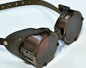 Machined Aluminum Goggles, Antiqued Copper -  GO051CA