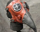 Plague Doctor Gas Mask, Red Silicone - MS053ANSR