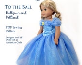"""To The Ball Deluxe Sewing Pattern for American Girl 18"""" Dolls Dollhouse Designs DIGITAL DOWNLOAD DIY pdf"""