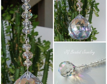 Large Hanging Prism Crystal Ball Suncatcher Window Decoration, Rainbow Maker, Home Decor