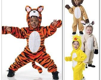 Sew & Make McCall's M6181 Sewing Pattern - Baby Toddler Tiger Lion Animal Costumes sz 1/2-4