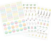 PRINTABLE House Keeping STICKERS - Digital File Instant Download- chores, cleaning Home Management