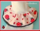 Lady Bug girls ruffle socks. custom - u pick type of sock - fold over or boot sock -& pick trim color -newborn, baby, toddler, girls sizes