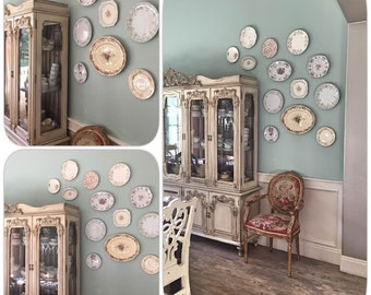 Custom Vintage China Plate Wall- You Design