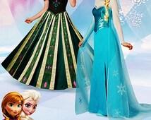 Elsa Costume Pattern, Anna Costume Pattern, Frozen Costumes Pattern, Sz 14 to 22, Simplicity Sewing Pattern 1215