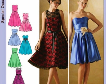 Strapless Dress Pattern, Special Occasion Dress, Simplicity Sewing Pattern 4070