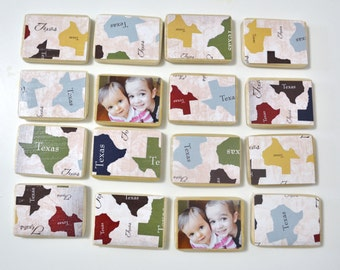 Texas Gift-Wooden Toy-Personalized Matching Game by burlap and blue