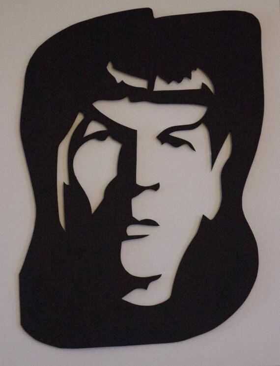 Mr. Spock Hand Cut Paper Cut Art, Paper Cut Art, Paper Cutting, Hand Cut Paper Art, Wedding Décor, Wedding Gift, Papercut, Scherenschnitte