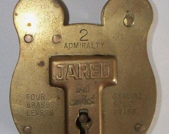 Brass Lock Solid Brass No Key