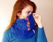Chunky Knit Cowl, Assymetrical women accessories,  Neck warmer Cowl