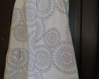 MID CENTURY  mod hippie gypsy  summer FLOWERS dress front zipper