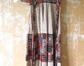 vintage. 60s Joseph Magnin Maxi Dress //  Boho Hippie Goddess  // S to M